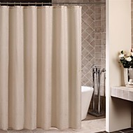 Minimalist Beige Floral Shower Curtain