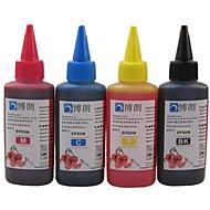 엡손 잉크 카트리지 100 ㎖ (4 색 1 부지)에 대한 엡손 CISS 리필에 적합한 bloom® 염료 잉크
