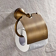 Toilet Paper Holder Antique Brass Wall Mounted 130*119mm(5.11*4.68inch) Brass Antique