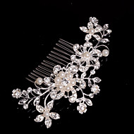 Alloy Hair Combs With Imitation Pearl/Rhinestone Wedding/Party Headpiece