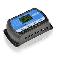 30A 12V/24V Solar Panel Charger Controller Battery Regulator USB LCD PWM