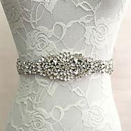 Satin Hochzeit / Party / Abend Schärpe-Kristall / Künstliche Perle Damen 250cm Kristall / Künstliche Perle