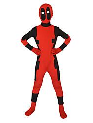Zentai Dragt Superhelte Ninja Spandex Heldragt Cosplay Kostumer Rød Sort Trykt mønster Trikot/Heldragtskostumer Zentai Spandex Lycra Barn