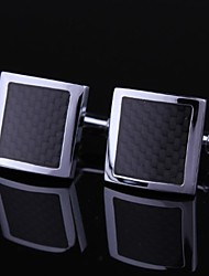 Dress Black and Silver Mens Cufflinks (1pair) Christmas Gifts