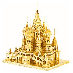 Jigsaw Puzzles 3D Puzzles / Metal Puzzles Building Blocks DIY Toys Castle Metal Silver / Gold Model & Building Toy