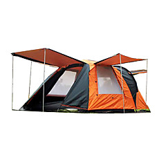 CAMEL 3-4 persons Tent Double Family Camping Tents Two Rooms with Vestibule Camping Tent 2000-3000 mm Rain-Proof Anti-Insect Keep Warm-