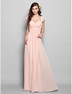 Lan ting νύφη πάτωμα-μήκος σιφόν μίνι μου παράνυμφος φόρεμα - α αγαπά τη  γραμμή 879fa6c0923