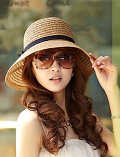 Women Vintage/Casual Summer Cotton Blends/Straw Floppy Bucket Sun Hat