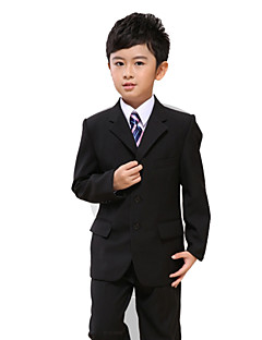 Polester/Cotton Blend Ring Bearer Suit - 7 Pieces Includes  Jacket / Shirt / Vest / Pants / Waist cummerbund / Bow Tie / Long Tie