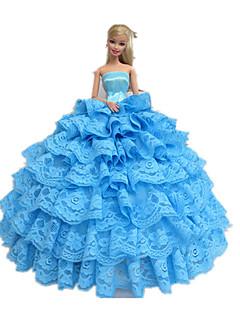 a1acbd391d4e Prinsesse Kjoler Til Barbie Doll Cyan Kjoler For Pigens Doll Toy