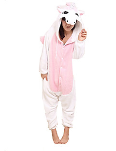 Kigurumi Pajamas Unicorn Leotard/Onesie Festival/Holiday Animal Sleepwear Halloween Pink Patchwork Coral fleece Kigurumi For Unisex