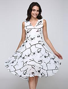 3521b20e0c1f Γυναικεία Καθημερινά   Μεγάλα Μεγέθη Εκλεπτυσμένο Swing Φόρεμα