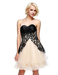 c0ecb824c416 TS Couture Κοκτέιλ Πάρτι Χορός Αποφοίτησης Φόρεμα - Κούμπωμα με κορδόνι Γραμμή  Α Στράπλες Κοντό