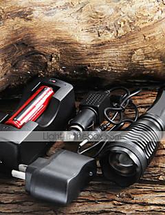 6ddb7bb5bc Φακοί LED   Φακοί Χειρός LED 5 Τρόπος 1800 2000 2200 Lumens 18650 Cree