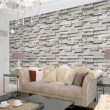 nutidige 3d mursten mønster tapet art deco 0.53m * 10m ...